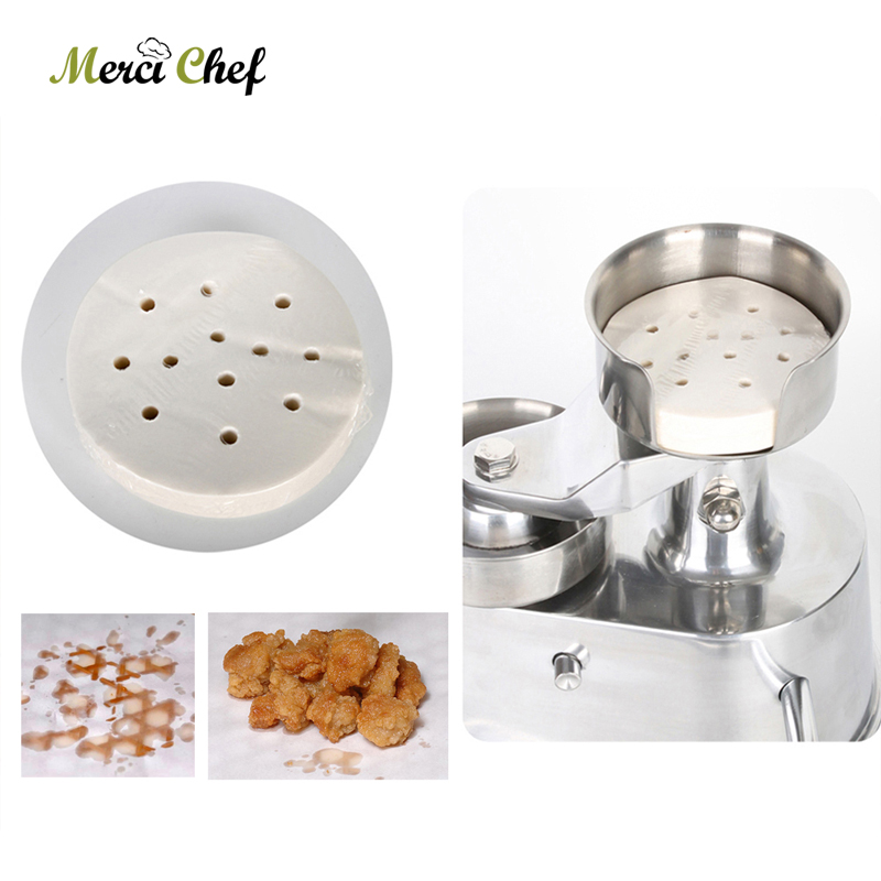 5 Set 2500pcs Hamburger Press Machine Oil Absorbing Paper 100mm/130mm Suitable for AM10/AM13 For Pastry Kitchen Tool 100mm manual hamburger machine hamburger press machine beef mold machine crab cake form machine