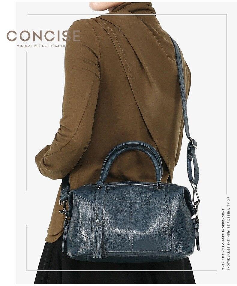 MJ Women Genuine Leather Handbag Female Real Cow Leather Tote Bag Ladies Large Capacity Shoulder Bag Crossbody Bags for Women (1)