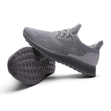 Running Shoes Breathable Soft Mesh Cloth Rubber-soles Anti-slip Light-weight Quick-dry Walking Sneakers