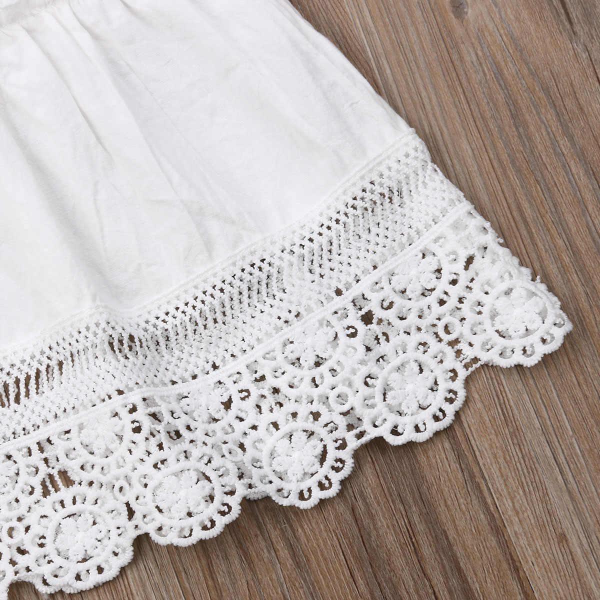2019 เด็กทารกฤดูร้อนเสื้อผ้าเข็มขัดสีขาวลูกไม้ชุดเจ้าหญิง Sundress ชุดเด็กเสื้อผ้าเด็กวัยหัดเดินเด็ก