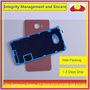 Image 5 - Original For Samsung Galaxy A7 2016 A710 A710F SM A710F Housing Battery Door Rear Back Cover Case Chassis Shell Replacement