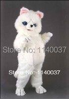 Талисман белый медведь костюм талисмана Пользовательские косплей костюм персонажа из мультфильма карнавальный костюм маскарадный костюм