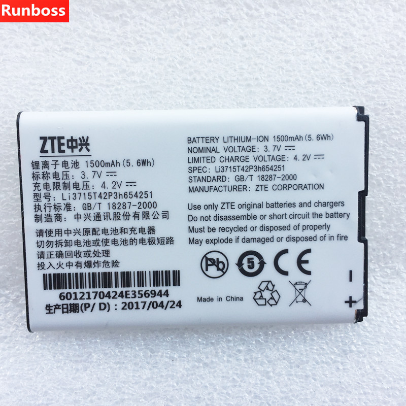 1500mAh <font><b>Battery</b></font> For <font><b>ZTE</b></font> MTS MTC 945 <font><b>ZTE</b></font> <font><b>MF60</b></font> MF61 MF62 MF65 WIFI Router Modem Cell Phone <font><b>Batteries</b></font> image