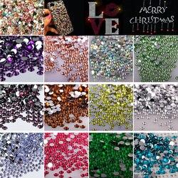 3mm 15 cores 2000 pçs clear crystal stone flatback strass guarnição strass glitter diy arte do prego artesanato vestido de telefone decoração