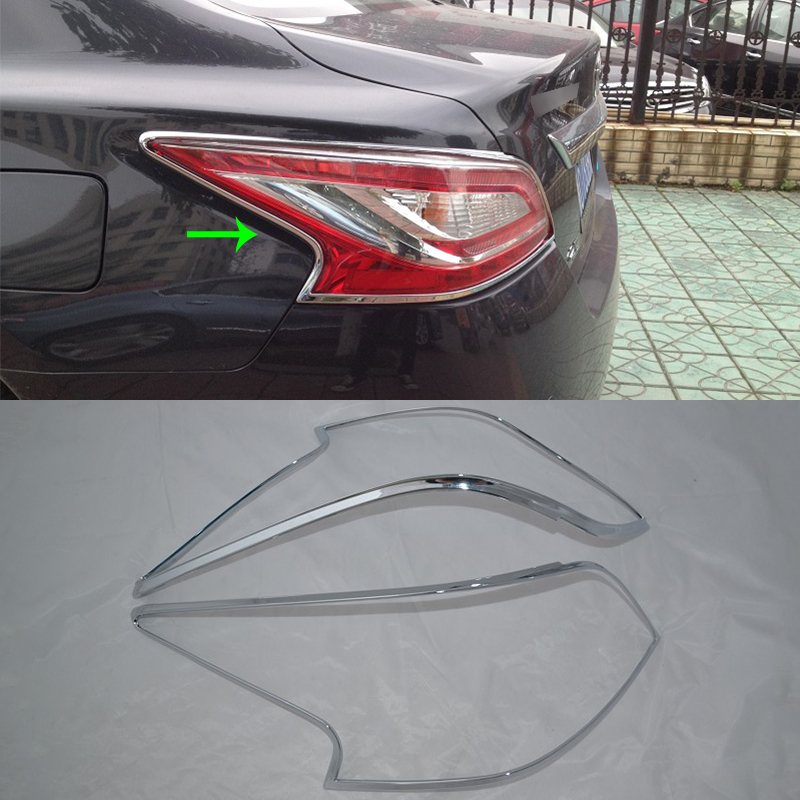 Car Accessories Exterior Decoration ABS Chrome Rear Tail Light Lamp Cover Trim 2pcs For Nissan Altima 2013 Car styling|Chromium Styling| |  - title=