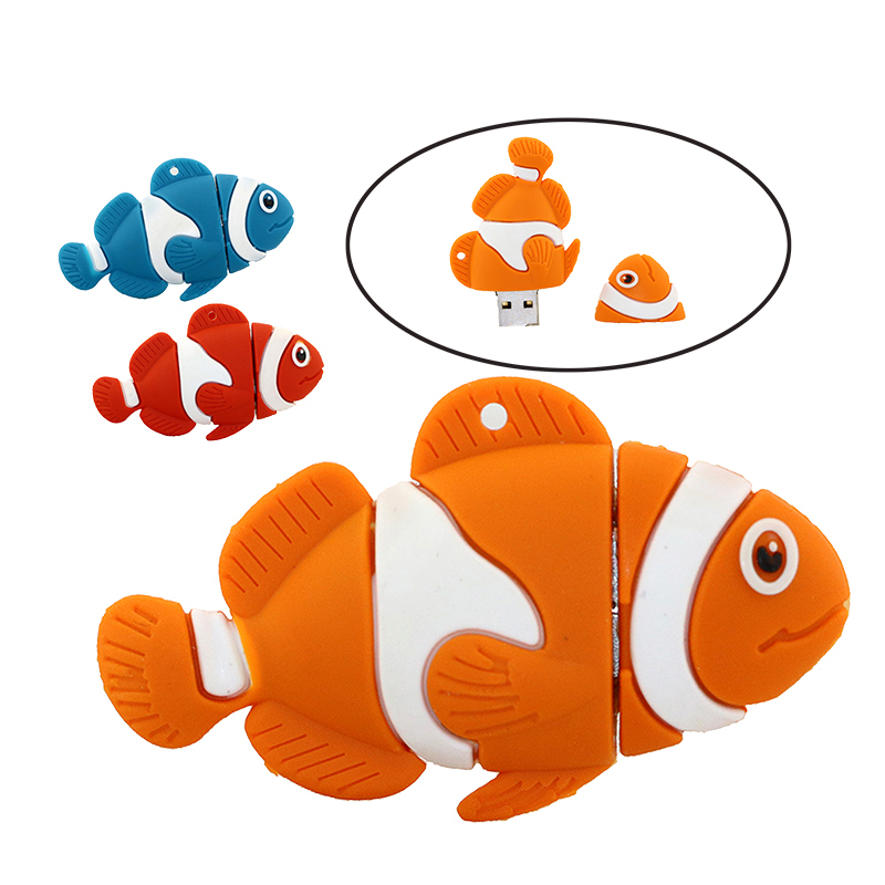 Retail cartoon vinden nemo grappige clown vis usb flash drive pen drive geheugenstick u disk 4 gb 8 gb 16 gb 32 gb pendrive