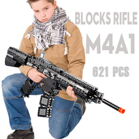 Building Blocks M4A1 Toy Gun Rifle Model Legoed Compatible Military Bricks Weapon Set Cs Cosplay Kids Outdoor Toy for Children