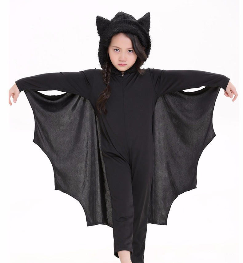 Child Animal Cosplay Cute Bat Costume Kids Party Carnival Halloween Costumes For Child Bat Onesies Connect Wings Batman Clothes