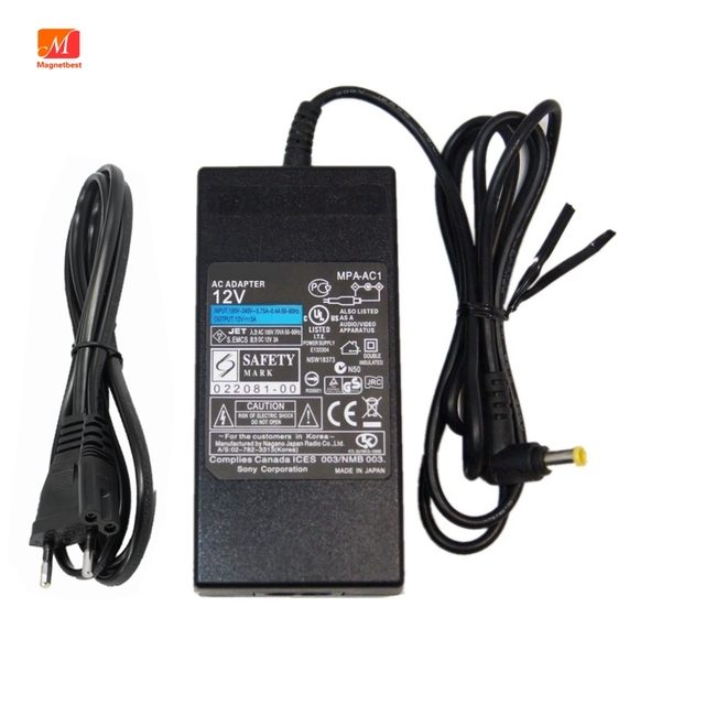 AC Adapter 36W 12V 3A  for Sony MPA AC1 Camera DVD EVI  Direct VRD EVI BRC SRG series Charger Power Supply