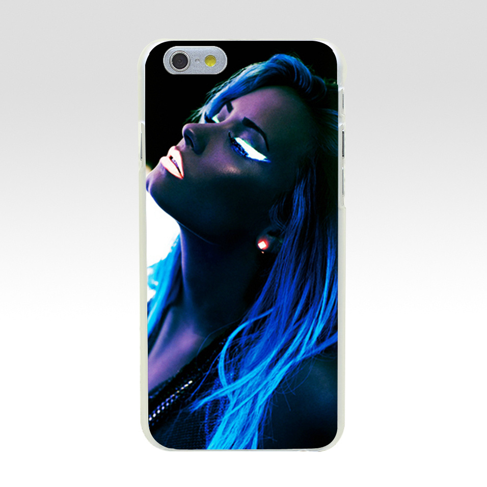 Minason For iphone 7 case Demi Lovato Blue Shiny Light Hard PC Case for iPhone 5C 5 S SE 5S 6 6S 7 8 Plus Cover Phone Capa