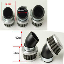 free shipping angle head motorcycle air filter waterproof Modified mushroom large flow for Inside diameter 42mm
