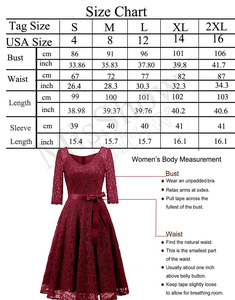 Image 5 - Elegant Burgundy Cocktail Dress MisShow V Neck Knee Length Floral Lace Gown Ribbons Bow 2019 Women New Style Cocktail Dresses