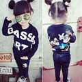 College Style Two Pieces Cotton Girl Set Minnie Sweatshirts+Pants Kids Girls Clothes Casual Suits Children Girls Clothing Sets