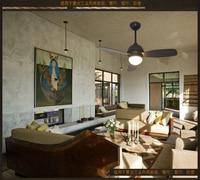 Ceiling fan pendant 36inch LED restaurant fans retro industrial wind pendant ceiling fan modern simplicity remote control fans