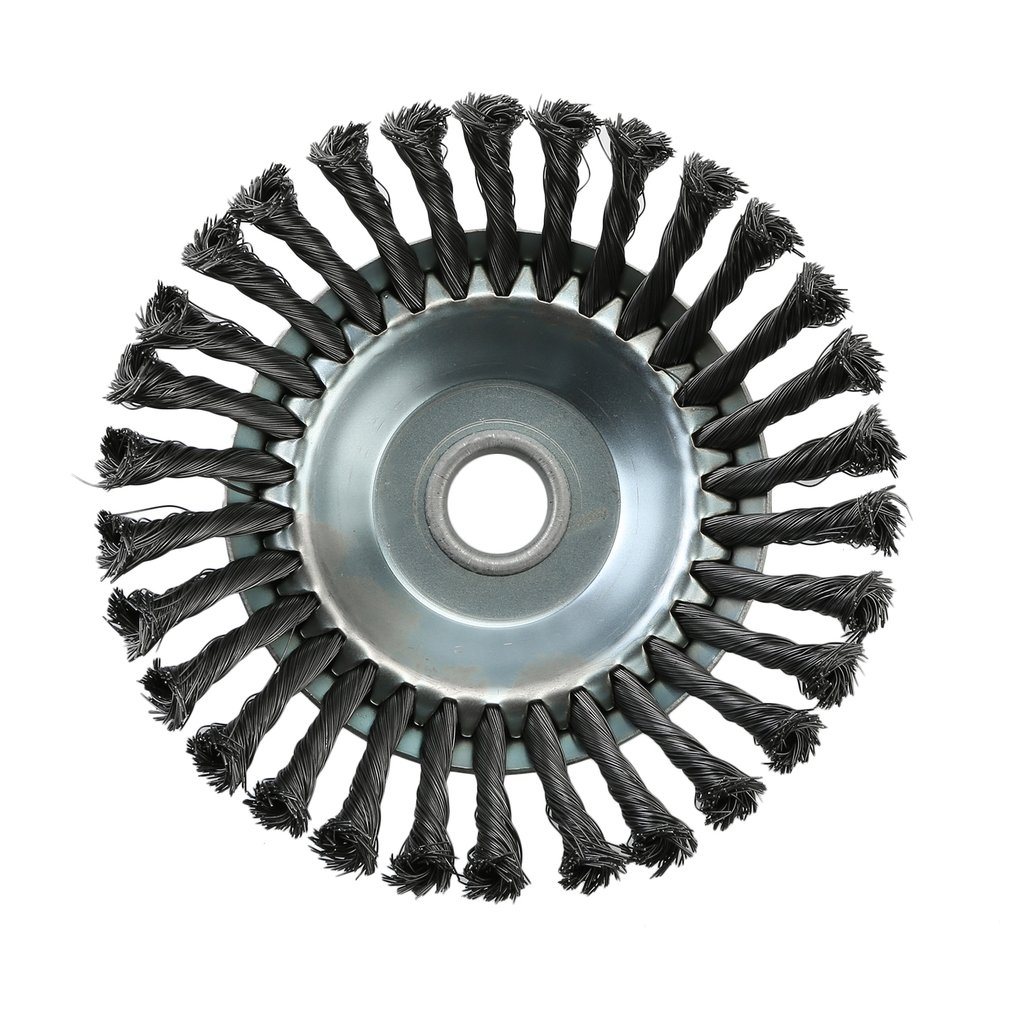 Weed Brush Rotary Joint Twist Knot Steel Wire Wheel Brush Disc 25.4x200mm Landscaping&Cutting Irrigation Machinery Toiletry KitsWeed Brush Rotary Joint Twist Knot Steel Wire Wheel Brush Disc 25.4x200mm Landscaping&Cutting Irrigation Machinery Toiletry Kits