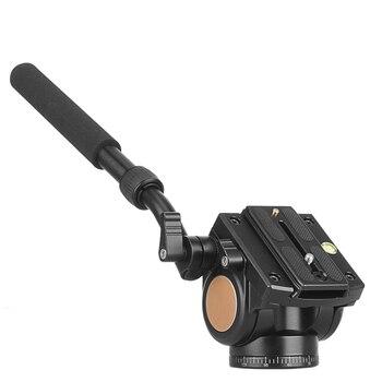 QZSD-Q90 Video Tripod Head Camera Aluminum Stand Alloy Fluid Damping Holder Stativ Mobile Flexible Digital DSLR