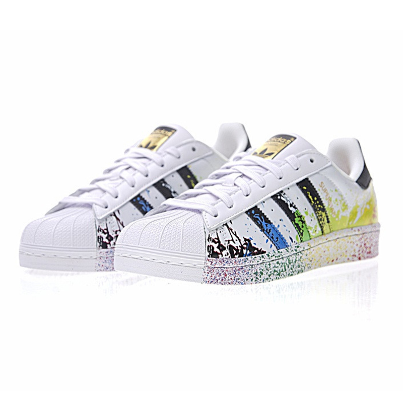 new product f53c6 8be9d Original New Arrival Authentic Adidas Clover Superstar Gold Label Men and  Women Skateboarding Shoes Sneakers