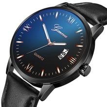 лучшая цена Relogio Masculino Luxury Quartz Analog Men Business Watches Sports Brand Chronograph Wristwatch Leather Strap Male Clock