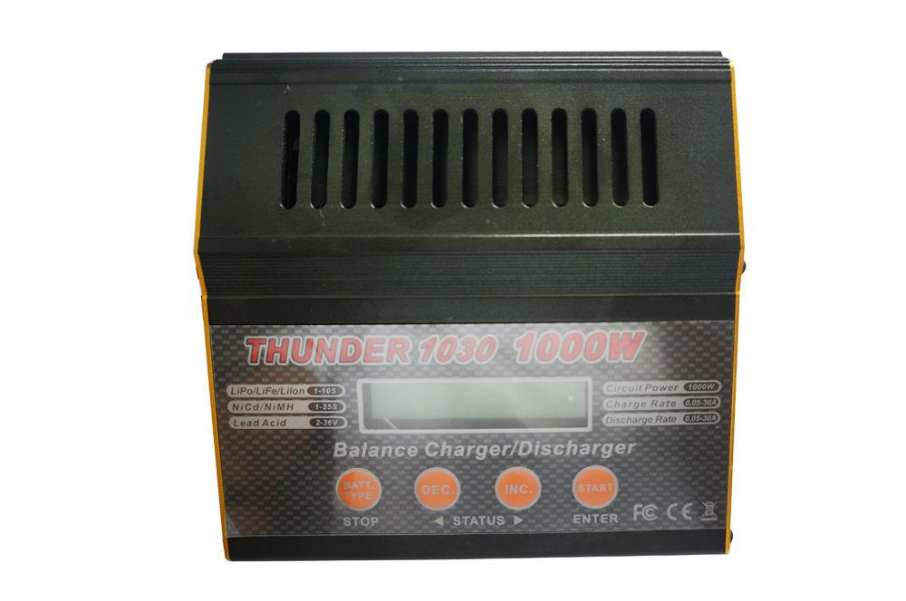 Thunder 1030 balance lipo charger 1-10S 1000W 30A Multifunctional RC balance battery charger discharger for Nicd/Mh/ lipo/Life