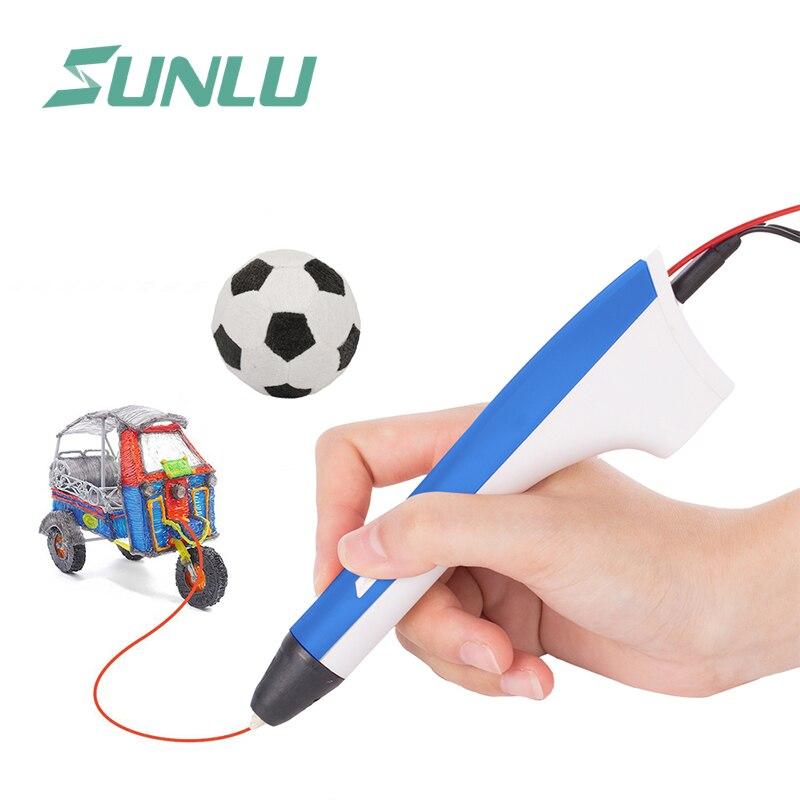 SUNLU 3D Penna M1 Modello di Supporto 2 Per Filamento Pla Pcl Con Il Cavo Usb E il Dito Per La Protezione Facile Da Scribble di Colore bluSUNLU 3D Penna M1 Modello di Supporto 2 Per Filamento Pla Pcl Con Il Cavo Usb E il Dito Per La Protezione Facile Da Scribble di Colore blu