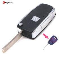Keyecu Modify Folding Type 1Button Remote Key Shell Case FOB for Fiat Punto Bravo Doblo