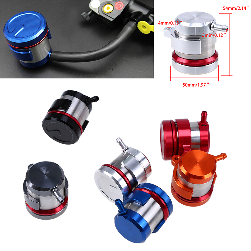 Aluminium CNC Universal Motorcycle Fluid Oil Reservoir Front Brake Clutch Tank Oil Cup Scooter For Honda Yamaha Ducati Suzuki