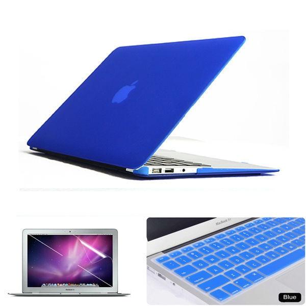 3in1 azul fosco emborrachado Hard Case Cover ( 11 cores ) + tampa do teclado para Apple Macbook Air 13 '' polegadas frete grátis