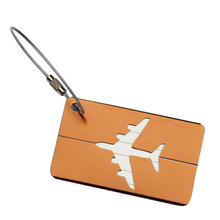 Rectangle Aluminium Alloy Luggage Tags Travel Accessories Baggage Name Tags Suitcase Address Label Holder