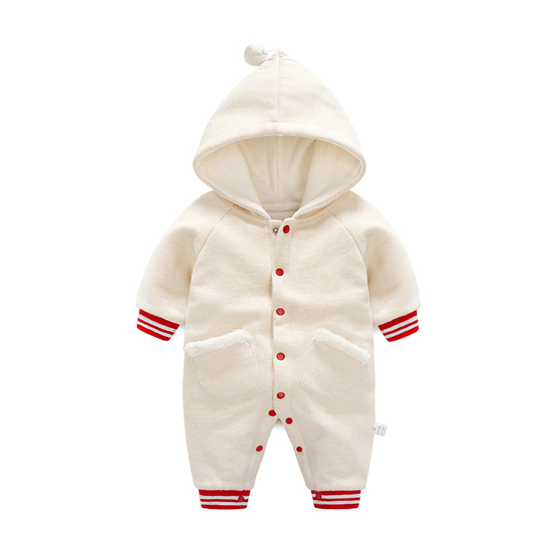 Baby Romper With Pocket 2019 New Fashion Baby Boy Clothes Cotton Jumpsuit Kids Infant Newborn Long Sleeve Hooded Outwear