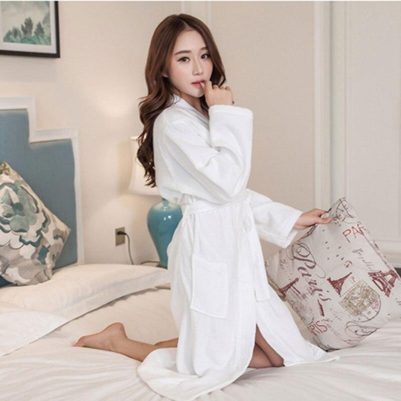 מלון טרי באביב ובסתיו נשים חלוק סקסי רך ארוך Homewear חלוקי חלוק רחצה נשית 5 צבע זמין