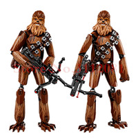 KSZ Star Wars 7 Chewbacca Kylo Ren Captain Phasma Rey Poe Dameron Finn Figure Toys Building