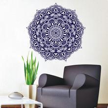 Wall Decals Mandala Meditation Yoga Stickers Buddha Om Symbol Removable Home Decor CW-72