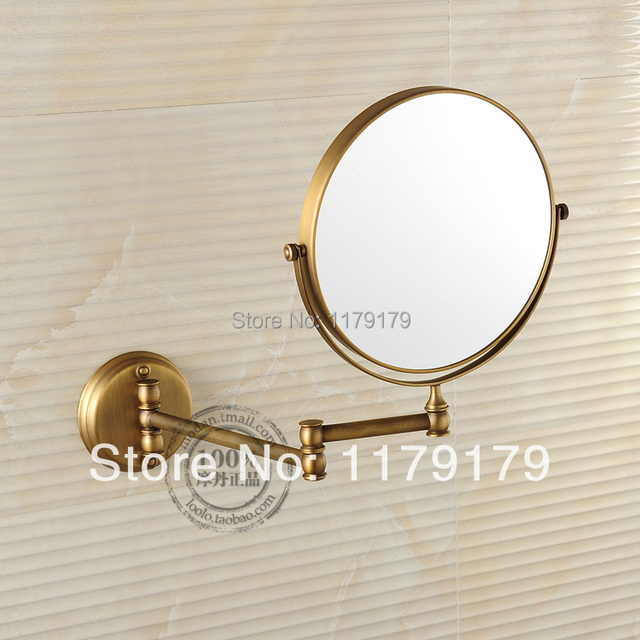 2 face Antique bathroom folding bathroom makeup mirror retractable folding magnifier beauty mirror