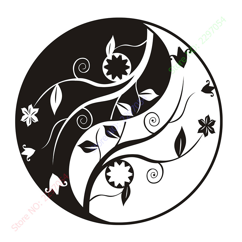 Buy buddha yin yang mandala om chakra zen for Decoration murale yin yang