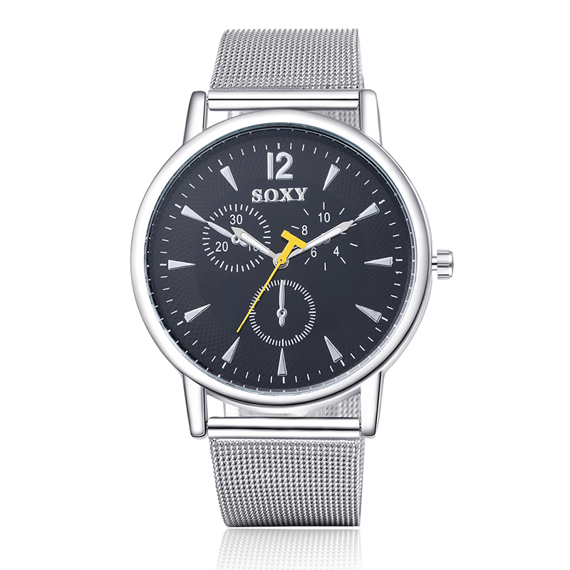 SOXY Men Fashion Luxury Brand Wrist Watch Full Steel Quartz Watch Sport Watches Men Watch Hombre Hour Clock relogio masculino nordic post modern black metal dining room pendant light modern led living room bedroom lights kitchen light