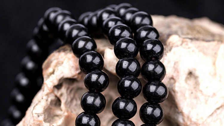 Charming Luxury Sandalwood Beads สร้อยข้อมือพุทธทำสมาธิ 6mm 108 สีดำสีแดง