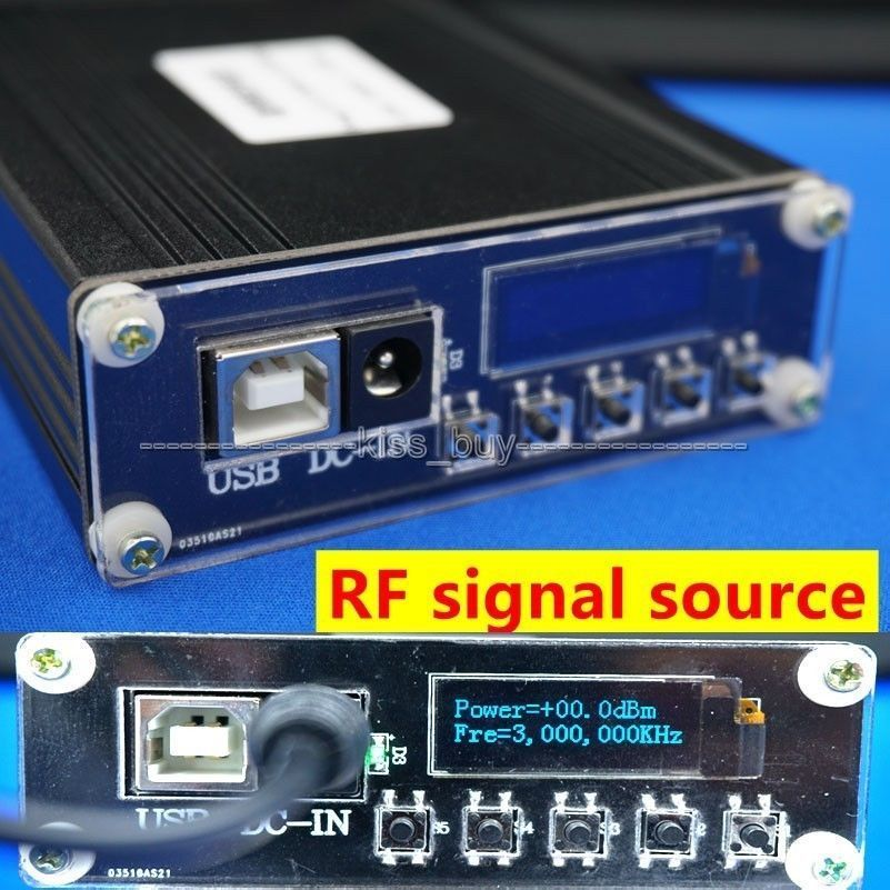 OLED affichage numérique ADF4351 35 MHZ-4.4 GHZ générateur de Signal fréquence RF source de signal + dc 12 v puissance avec port usb