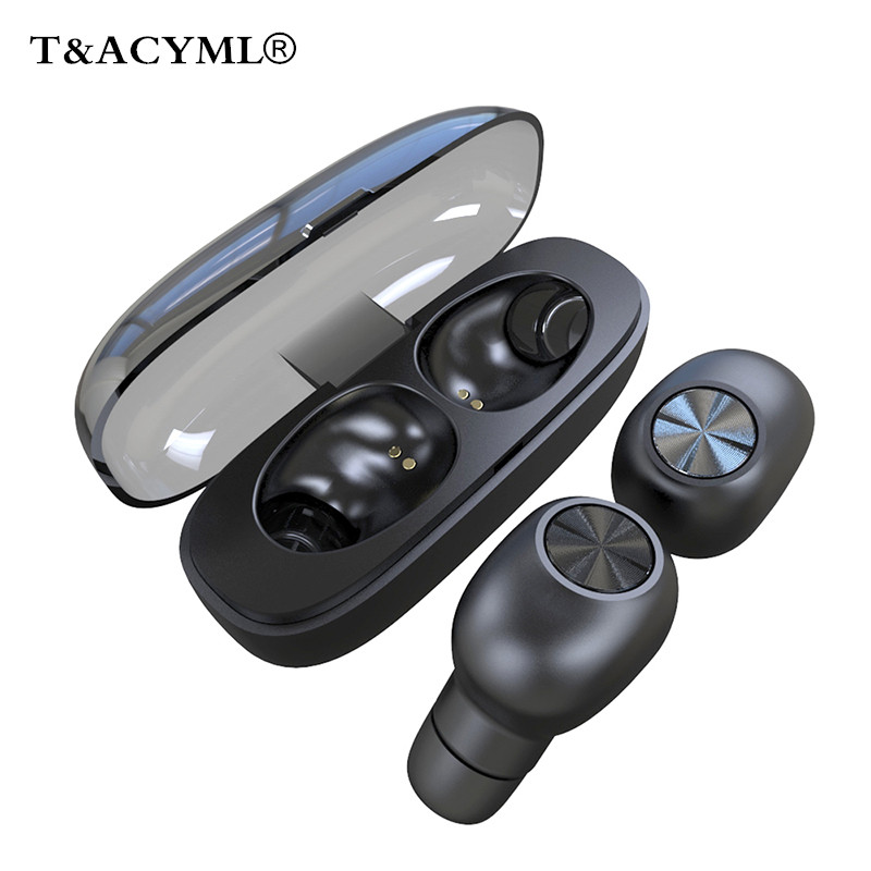 <font><b>TWS</b></font> Bluetooth 5.0 Earphone earbuds Wireless Stereo Waterproof With Mic Charging Box Sport Running Headphone For IPhone Huawei image