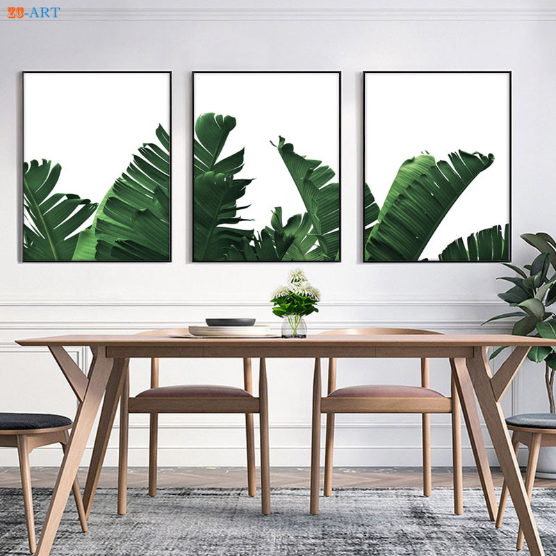Banana Leaf Art Print Poster Botanical Canvas Painting Minimalist Wall Picture Kitchen Dining Room Home Decoration In Calligraphy From