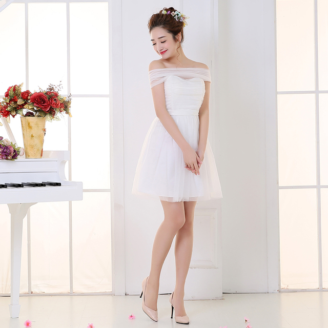 Sweet Memory Boat Neck Bridesmaid dress SW180617 White Champagne Pink Blue  Violet Purple Wholesale Bridesmaid Dresses 59cb4ca9d0af