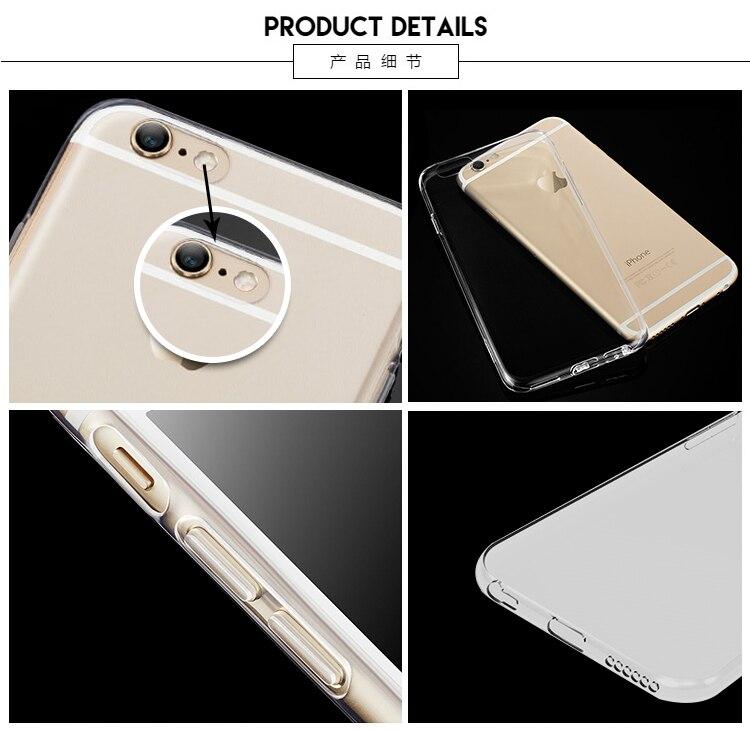 MaiYaCa telefonfodral för iPhone 4s 5s 6s 7 plus mjukt genomskinligt - Reservdelar och tillbehör för mobiltelefoner - Foto 6