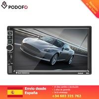 Podofo 2 din Car Multimedia Player 7'' Android 6.0 Touch screen Digital Display Bluetooth USB FM Autoradio Mirror