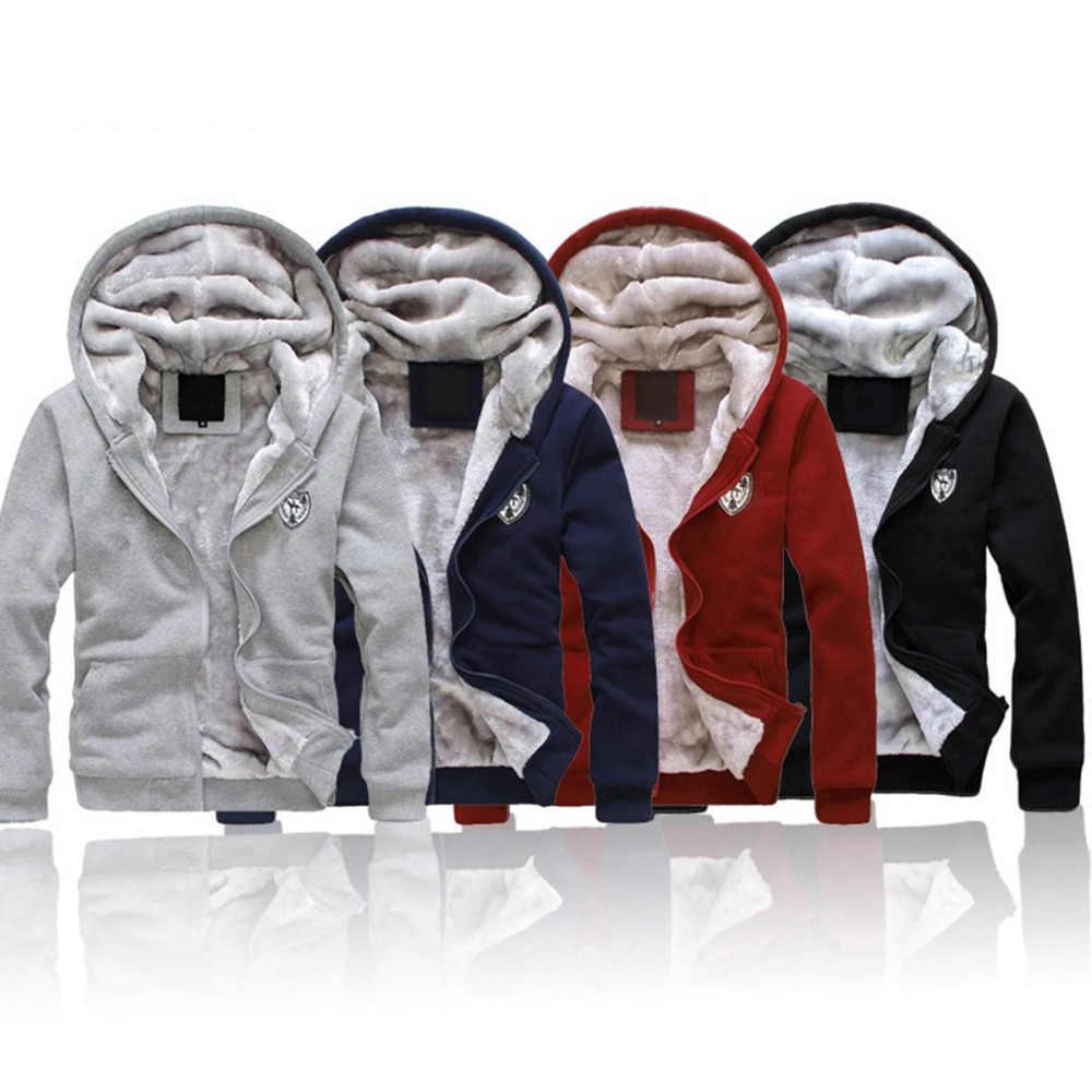 Толстые теплые спортивные костюмы для мужчин, модный Бархатный комплект из 2 предметов, мужская спортивная одежда, зимние серые черные пальто с капюшоном + брюки, большие размеры 3XL