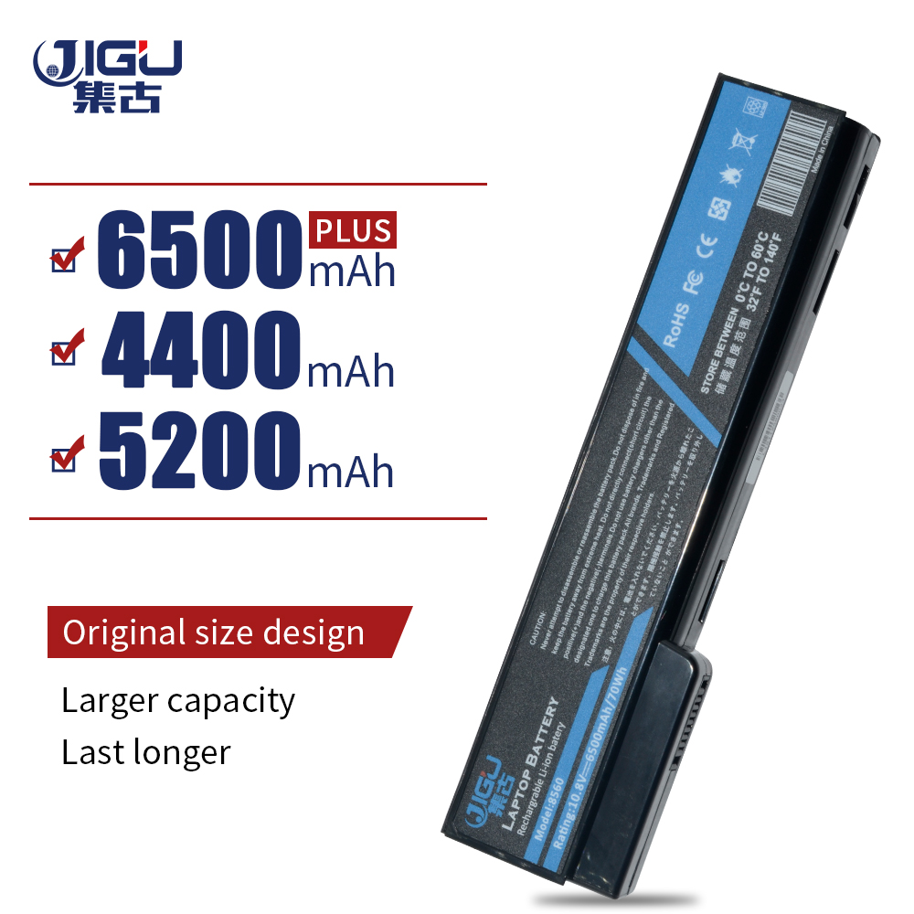 JIGU Laptop <font><b>Battery</b></font> For <font><b>HP</b></font> ProBook 6460b 6360b 6465b 6470b 6475b 6560b 6565b 6570b <font><b>EliteBook</b></font> 8460p 8470p 8560p <font><b>8570p</b></font> image