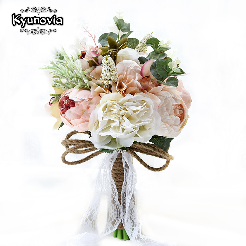 Kyunovia New Camellias Wedding Bouquet Plants Floral Bouquet Gift Lace Handle Keepsake Bouquet Garden Theme Wedding Flowers FE40 wifelai a 16 color 1 piece hot sale bridesmaid wedding foam flowers rose bridal bouquet ribbon fake wedding bouquet de noiva