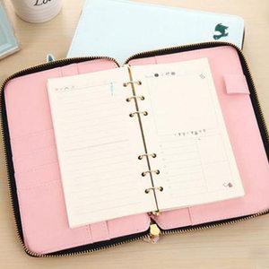 Image 4 - Yiwi 2019 novo encadernação pessoal de zíper, planejador agenda planejador organizador notebook, fino 6 anéis binder planejador diário a6