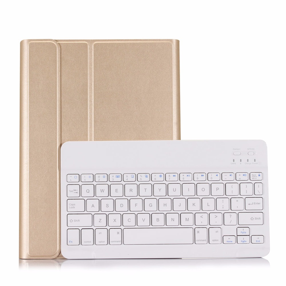 New 2017 2018 For iPad 9.7 A1822 A1823 High-Quality Ultra thin Detachable Wireless Bluetooth Keyboard Case cover + Film + Stylus