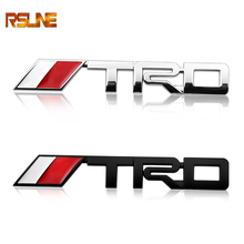 Car TRD Logo 3D Racing Metal Sticker Auto Emblem Badge Decal For Toyota CROWN REIZ COROLLA Camry VIOS Car Styling Accessories