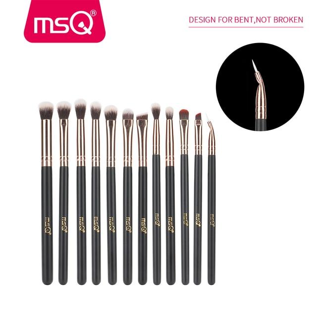 MSQ 12pcs Eyeshadow Makeup Brushes Set Pro Rose Gold Eye Shadow Blending Make Up Brushes Soft Synthetic Hair For Beauty 1