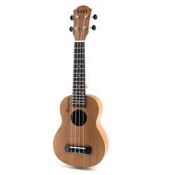 21 polegada mogno soprano dos desenhos animados ukulele guitarra sapele rosewood 4 cordas hawaiian guitarra saco musical instrumentos para iniciantes